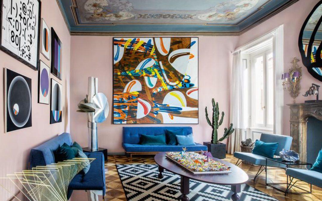 Arte y diseño se juntan en una residencia italiana del siglo XIX