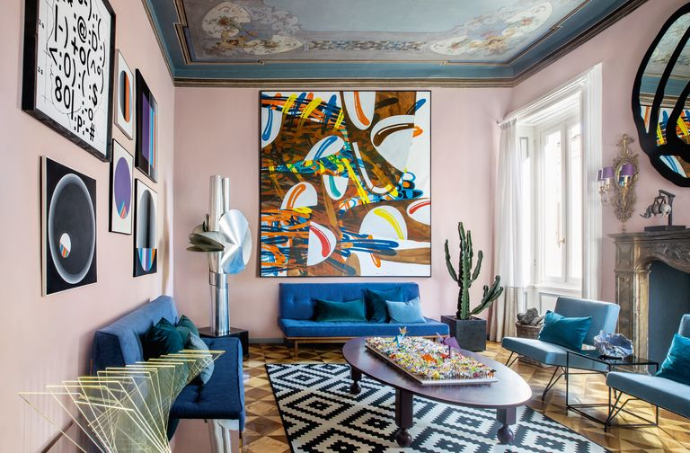 Art and design fusion in a 19th century italian residence